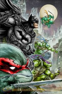 Batman/TMNT #1 cover by Freddie Williams II