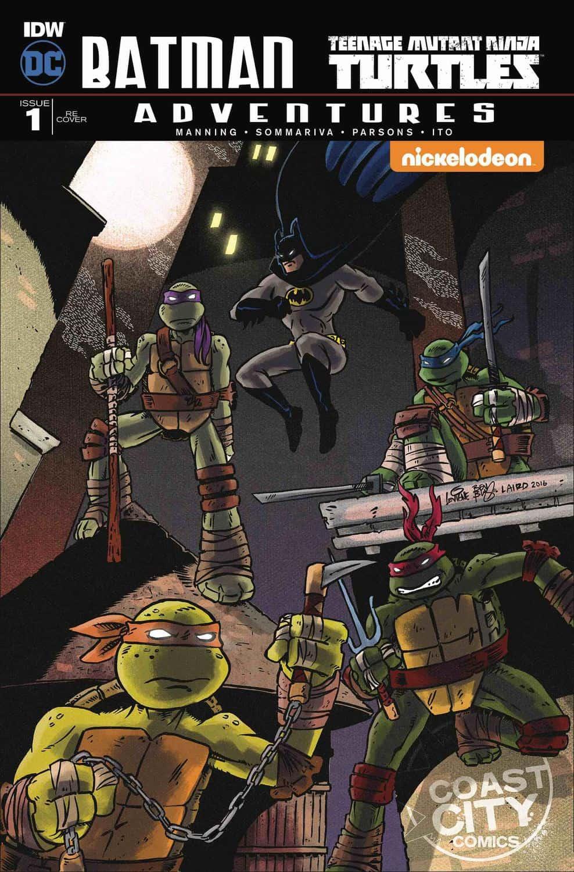 BATMAN TEENAGE MUTANT NINJA TURTLES ADVENTURES #1 Subscriber Cover A 2016