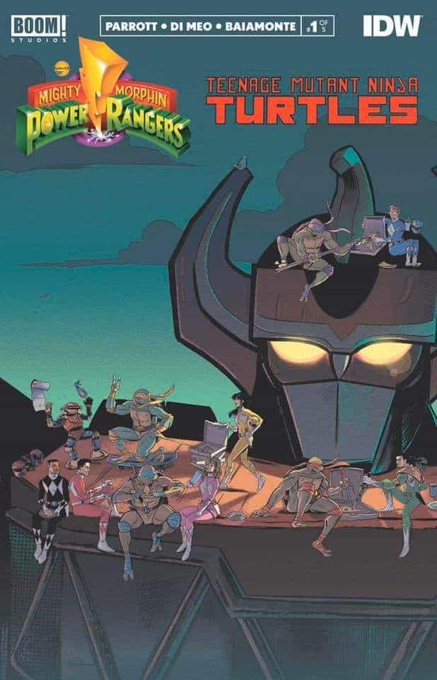 Mighty Morphin Power Rangers Teenage Mutant Ninja Turtles 1-5 Complete Comic Set