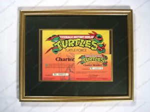 TMNT Fan Club Certificate and Card_framed